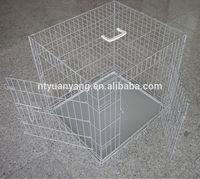sliver color foldable folding wire dog crate cage cat carrier manufacturer