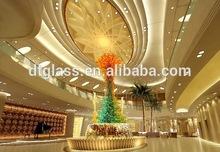 Large Glass Floor 9m Sculpture Led Floor Lamp for Luxury lobby