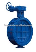 Flange end cast iron ductile iron gg25/ggg40 double eccentric butterfly valve/D343X-10/16