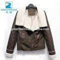 2014 caliente venta personalizada de la pu chaqueta de mujer deinvierno con cremallera de cuero con abrigos de piel falsa cuello solapa