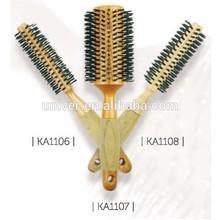 Foam Handle Wooden Barrel Bristle Hair Brush KA1106-KA1108