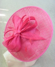 ladies crin fascinator with feather hair accessories