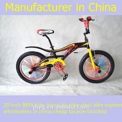20 inch BMX bike freestyle bike steel bike express wholesalers in china cheap bicycle bicicleta