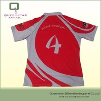 new style custom sublimation printing rugby shirts