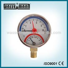 Bourdon tube thermometer pressure gauge 63mm
