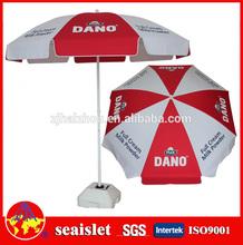 custom brand print white and red big garden umbrellas