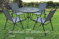 outdoor furniture folding sling patio set dining set garden set