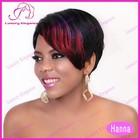 Cheap Reddish Highlight Short Natural Hair Wigs For Black Women 100 Human Wigs Wholesale China