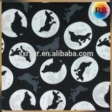 super fine cotton wolf print fabric