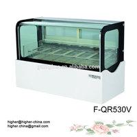 CE approved ice cream display freezers price, Used countertop ice cream freezer