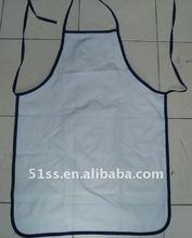 promotion plain white aprons cotton for children