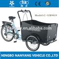 marco de acero de carga de bicicletas bicicletas de tres ruedas para adultos