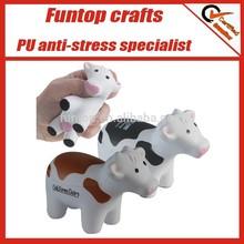 Custom pu soft foam cow stress ball