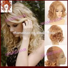 "Factory Cheap 18"" Body Wave Virgin Brazilian Hair Sew Full Lace Wig"