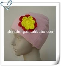 Ladies Fleece Hat With Flower