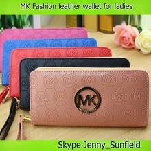 PU zipper MK fashion leather wallet ladies multicolor