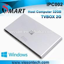 Vensmile factory price IPC002 mini PC windows XP Bay Trail CR,Z3735F mini pc windows XP