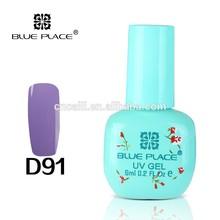 Blue Place #D91 Color Nail UV Gel Polish Easy Soak off Bright #D91 Color 6ml Long Lasting Cosmetics Wholesale Manufacturer
