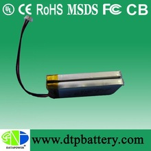 Costum made batteries of 3.7V and 800mah 2P 3.7v li polymer battery pack for digital products