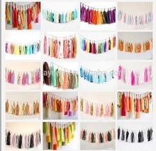 DIY Hanging Tissue Paper Tassel Garland for Wedding Decoration