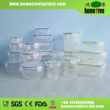 round rectangle square 24pcs airtight plastic box food storage container set
