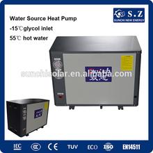 10Kw R407C ground source water to water heat pump outlet 55C hot watRadiator heating room Brine water source EVI heat pump sale