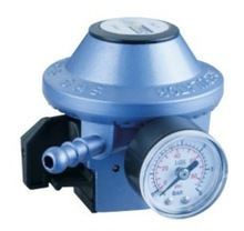 Gas low pressure regulator with gauge, air pressure regulator parts with ISO9001-2008
