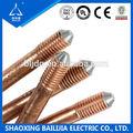 électriques tige de terre en cuivre électrolytique wiith thickness0.25mm