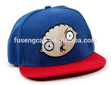 new acrylic children snapback cap kid flat hat wholesale