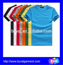 wholesale blank T shirt 100% cotton OEM v-neck/o-neck blank T shirt