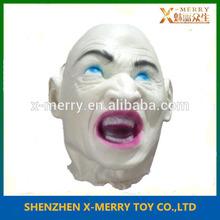X- Buon terribile fantasma bianco testa prop costume di halloween, occhi azzurri