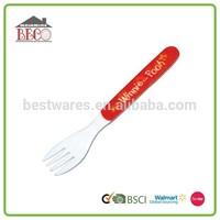 Elegant designed kids long plastic fruit forks and knives
