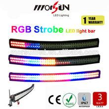 2015 new 50'' led strobe light bar! Curved 288w offroad led bar, remote control RGB flashing bar light for 4wd,suv,car,jeep
