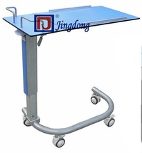 Tough Height Adjustable overbed table for Hospital and clinic