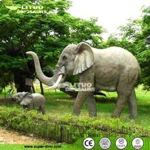 Theme Park Animatronic Large Animal Replica of Elephant