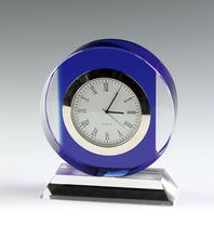 Exquisite Nice Perfect Round Crystal Clocks For Wedding Decoration