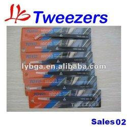 High Quality & Economical 6pcs/set antistatic & stainless tweezers for BGA rework/repair, BGA kit/tool, BGA accessories