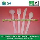 Biodegradable environmental friendly food grade safe pla plastic kitchen cutlery/utensil Knife/Fork/Spoon