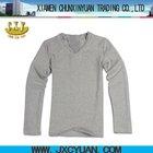 oversized plain blank xxxl t shirts for men v-neck long sleeve