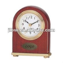 Unique raw wood clock body mental base clock