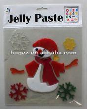 Snow Man Cute Christmas Decorative Jelly Paste