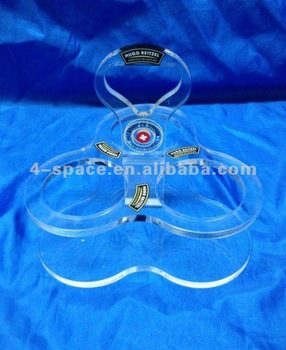 Fully assembled top table acrylic squeeze bottle holder/stand