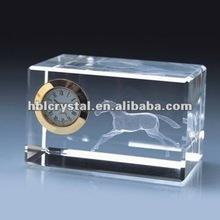 558 engraved crystal clock