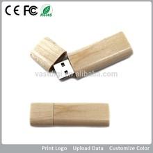 Laser engraved wood usb flash drive logo