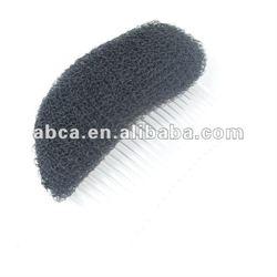 Black Knitted Cosmetic Nylon Hair Pad Bun