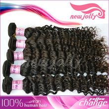 Charming virgin curly hair products/ cheap virgin remy hair/bulk hair no shedding and tangle free