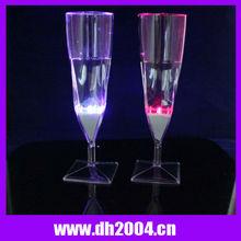 2012 best seller led flashing wedding fancy champagne glass