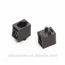 6P6C/4p4c modular trilex jack rj11 to rj45 telephone modular adapter