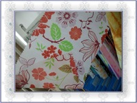 100% polyester taffeta forest printed fabric