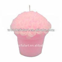 2012 hot sales pink rose wedding candle